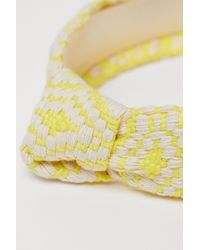 H&M Knot-detail Alice Band - Yellow