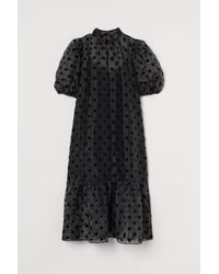H&M Robe en organza - Noir
