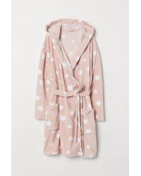 H&M - H & M+ Fleece Dressing Gown - Lyst