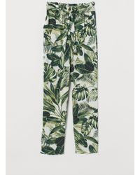 H&M Paper Bag Trousers - White
