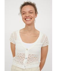 H&M Crocheted Top - White