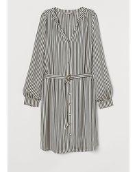 H&M - Robe avec ceinture - Lyst