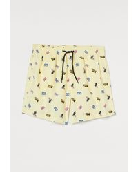 H&M Patterned Swim Shorts - Metallic