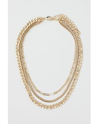 H&M Triple-strand Necklace - Metallic