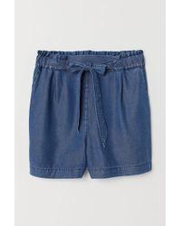 H&M Denim Shorts High Waist - Blue