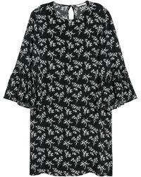 H&M Kleid mit Volantärmeln - Schwarz