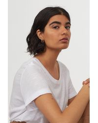 H&M Round-necked T-shirt - White