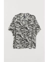 H&M Kurzarmbluse - Weiß