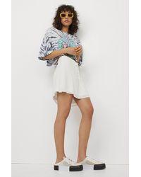 H&M Crêpe Skirt - White