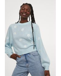 H&M - Embroidered-detail Sweater - Lyst