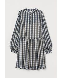 H&M Wide-cut Dress - Blue