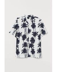 H&M Chemise à col cubain - Blanc