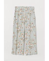 H&M Pantalon à taille élastique - Vert