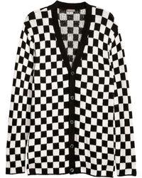 H&M Jacquard-knit Cardigan - Black