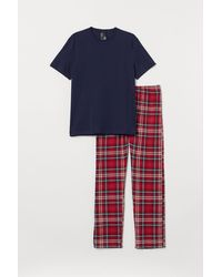 H&M Pyjamashirt En -broek - Blauw