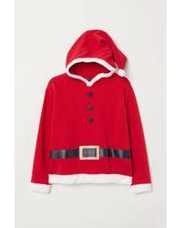 H&M H & M+ Printed Hooded Top - Red