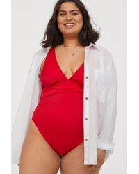 H&M H & M+ Shaping Swimsuit - Red