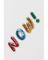 H&M Sequined Repair Patch - Red