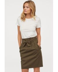 H&M - Skirt With A Tie Belt - Lyst