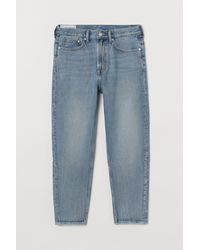 H&M Relaxed Tapered Jeans - Blauw