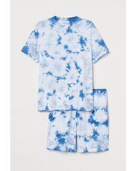 H&M Schlafshirt und Shorts - Blau