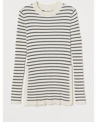 H&M MAMA Gerippter Pullover - Weiß