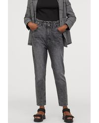 H&M Tapered High Ankle Jeans - Gray