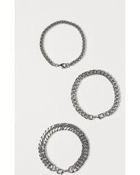 H&M 3er-Pack Armbänder - Mettallic