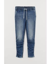 H&M Denimjoggers Slim Fit - Blau