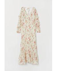 H&M - Robe longue à encolure en V - Lyst