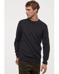 H&M Fine-knit Cotton Sweater - Blue