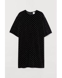 H&M - T-Shirt-Kleid - Lyst