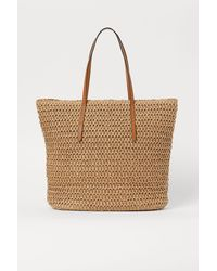 H&M Straw Shopper - Natural