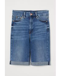H&M Embrace High Bermuda Shorts - Blue