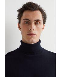 H&M Fine-knit Turtleneck Sweater - Blue