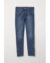 H&M - Skinny Regular Ankle Jeans - Lyst