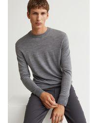H&M Merino Wool Sweater - Gray