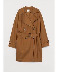 H&M Oversize-Trenchcoat - Natur