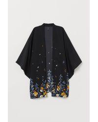 H&M Kimono avec impression - Noir
