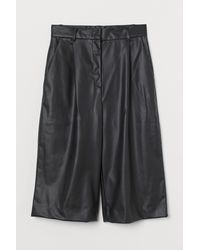 H&M Imitation Leather Shorts - Black
