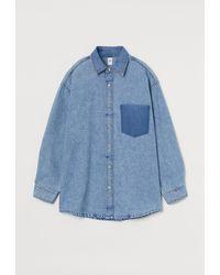 H&M Chemise oversize - Bleu