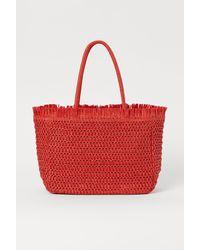 H&M Shopper aus Papierstroh - Orange