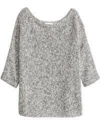 H&M - Pullover in Linksstrick - Lyst