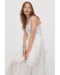 H&M Bow-detail Skirt - White