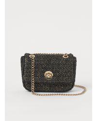H&M Glittery Shoulder Bag - Black