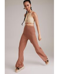 H&M Pants With Suspender Straps - Brown