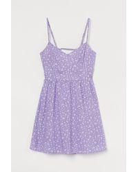 H&M Short Dress - Purple