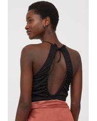 H&M Cut-out Bodysuit - Black