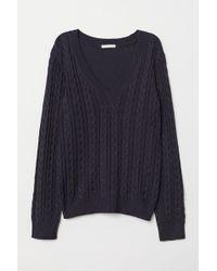 H&M - V-neck Sweater - Lyst