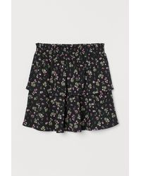 H&M Flounced Skirt - Black
